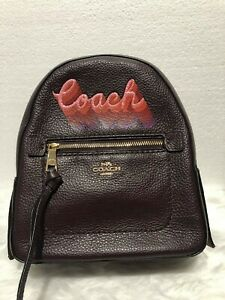 US BOUGHT COACH ANDI BACKPACK WITH NEON COACH SCRIPT 2-1 sling bag COACH F37846