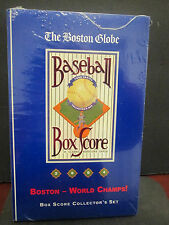 MLB- BOSTON RED SOX 2004 WORLD SERIES CHAMPIONS/ GLOBE BOX SCORE COLLECTOR SET