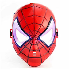 Fun Cute Super Hero Spider-Man Figures LED Light Cosplay Mask Kids Children Toy