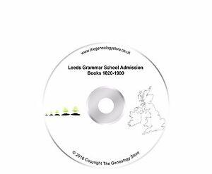 Leeds Grammar School Admission Books 1820-1900