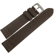 20mm Hadley-Roma MS850 Mens Brown Cordura Canvas Vegan Watch Band Strap