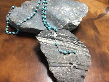 PaPa Francisco Blessed Rosary Vatican Stone Turquoised beads 2/18