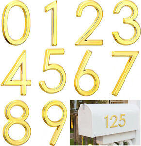 Decals 3D Mailbox Numbers Stickers Street House Address Door Number Signs