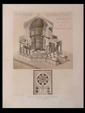 SPALATO, PALAIS DIOCLETIEN -1910 -PLANCHE ARCHITECTURE- MAUSOLEE, SPLIT, HEBRARD