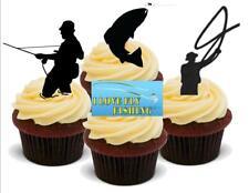 Caja De Pesca Fiesta de Cumpleaños 12 Taza Cake Toppers Adornos Comestibles