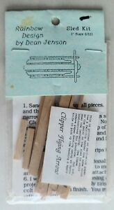 HANDSOME DEAN JENSEN DOLLHOUSE MINIATURE OLD FASHIONED SLED KIT, NEW!