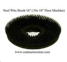 "Floor Machine  Steel Wire Brush 18"""