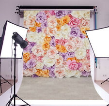 Blooming Flowers Wall Photography Backgrounds 4x5ft Vinyl Studio Photo Backdrops