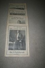 THE DAILY TELEGRAPH PICTORIAL SUPPLEMENTS FOR THE FUNERAL KING GEORGE THE FIFTH
