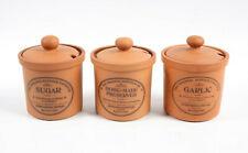 Henry Watson Pottery The Original Suffolk Homemade Terracotta Jars Sugar Garlic