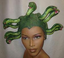 Medusa Green Latex Snake Headpiece Mythical Hat