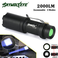 Super Hell Zoomable 2000LM CREE Q5 AA /14500 3 Modi LED Taschenlampe Fackel