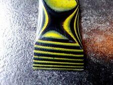 Aktionspreis! GFK G10  Griffschalen yellow /black, Griffmaterial, Micarta, 6,5mm