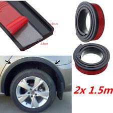 "2x 59"" Universal Car Wheel Arch Trim Fender Flares Protection Strip Rubber Black"