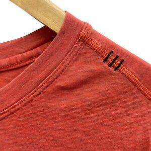 Lululemon Orange Crew Neck Short Sleeve Mens Activewear T-Shirt • Medium M