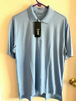 Adidas Golf Mens Medium Short Sleeve Light Blue Polo Shirt NWT