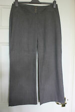 M&Co size 14 petite light brown pin stripe boot cut trousers length 27.5inches