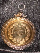 LARGE ANTIQUE GOLD DOG SHOW MEDAL SAINT HUBERT CLUB 21ST JULY 1880 HOUND TERRIER