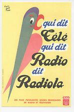 BUVARD RADIO TELEVISION RADIOLA PERROQUET RENE RAVO TSF ANCIENT BLOTTER