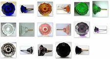 cut glass cupboard & wardrobe drawer pull door knob 35mm many colours