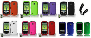 Car Charger + Hard Cover Phone Case for Straight Talk Tracfone LG 505C LG505C