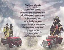 FIREFIGHTER PROMISE FIRE CHIEF CAPTAIN Poem Prayer Print Dog Personalized