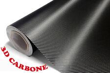 Film Vinyle 3D Carbone Noire adhésif thermoformable autocollant 152cm X 30cm