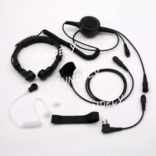 Military Tactical Throat Mic Headset/Earpiece For Motorola Radio CP-150 CP-200