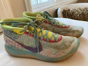 "Nike Zoom KD12 NRG ""EYBL Peach Jam"" Basketball Sneakers Shoes Mens Size: 10"