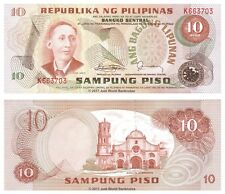 Philippines 10 Piso 1978 P-161d Red Serials Banknotes UNC