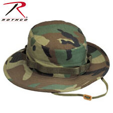 Boonie Hat Woodland Camo Vented Fitted 100% Cotton Ripstop Rothco 5817
