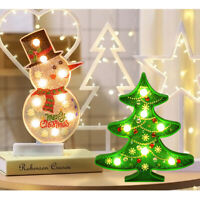 Christmas 5D DIY Full Drill Diamond Painting Light Tree Snowman LED Night Lamp G