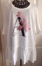 BNWT Size 18 Per Una Cream Always In Love Short Sleeve T-Shirt £19.50