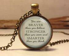 Winnie the Pooh quote necklace.inspirational quote Pendant . jewelry necklace