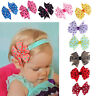 10PC Cute Babys Girls Headband Hairband Elastic Wave Point Bowknot Photography