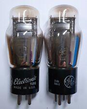 Two General Electric (GE) 45 vacuum tubes