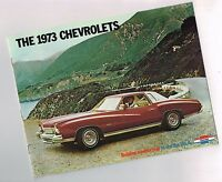 1973 CHEVY Full Line Brochure: CORVETTE,CAMARO,VEGA,CHEVELLE,MONTE CARLO,CAMINO,