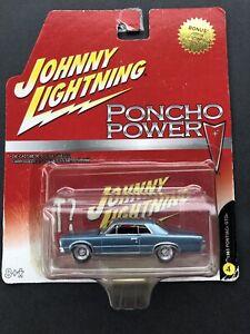 Johnny Lightning 1965 Pontiac GTO in Blaumetallic 3inch 1/64 OVP - selten