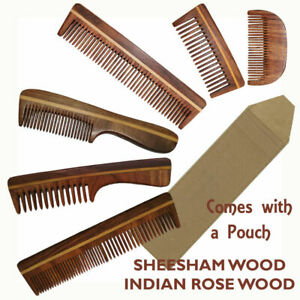 Wooden Comb Beard Mustache Hair Comb Sheesham Shisham Indian Rosewood Natural