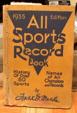 1935 Book of all Sports records! Just Like Back to the Future!