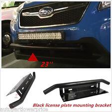 """23"""" Car Bull Bar Front Bumper Working Lights License Plate Mount Bracket Holder"""