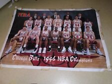 1996 CHICAGO BULLS NBA WORLD CHAMPIONS BIG POSTER EXTRA RARE +XXL MAGAZINE