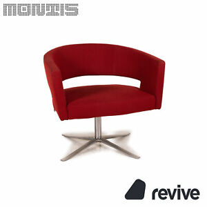 Montis Turner Fabric Armchair Red Metal Rotating
