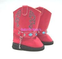 Red Western Cowgirl Boy Boots 18 in Doll Clothes Fits  American Girl