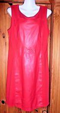 Super sexy Kleid Gr.38 mit Einsätzen aus Leder in  rot.