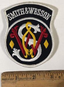 Vintage Smith & Wesson Logo Black Patch Gun Rifle Hunting