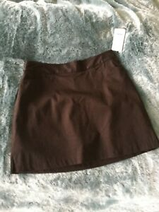Lady Hagen Golf skirt, chocolate brown, size 6, new with tag