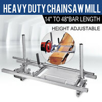 """Chainsaw Mill 14""""-48"""" Portable Chain Saw Mill Aluminum Steel Planking Lumber"""