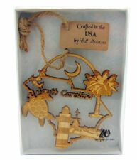 South Carolina Wooden Christmas Ornament State Boxed Decoration Made in the USA