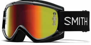 Smith Fuel V.1 Bike Goggles Black/Red Mirror & Clear Lens Mens